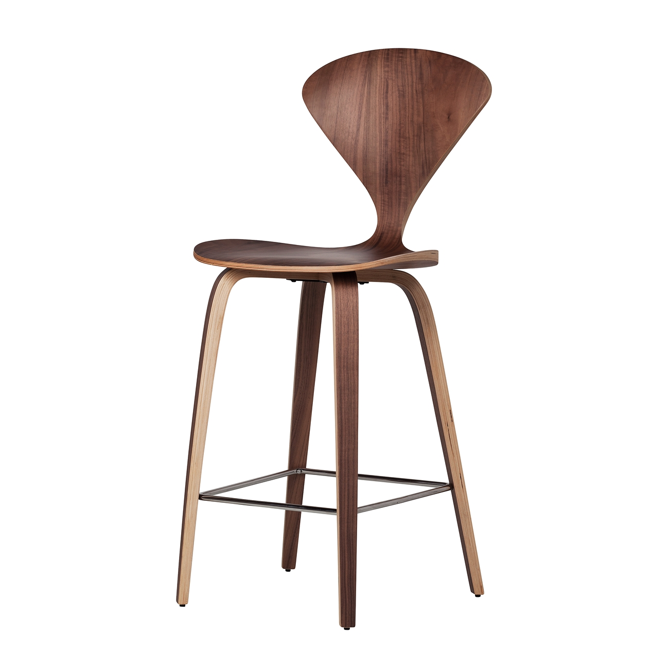 Satine Molded Plywood Bar Stool The Khazana Home Austin