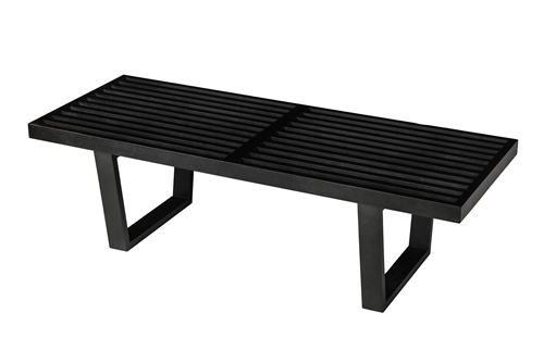 "George Nelson Style 48"" Bench with Black Finish"