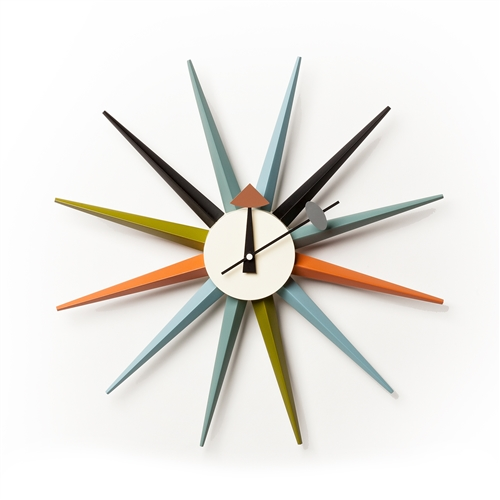 George Nelson Inspired Sunburst Clock