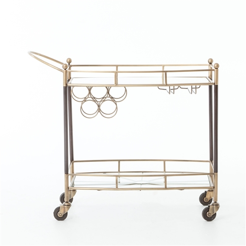 Asher Coles Bar Cart-Antique Brass
