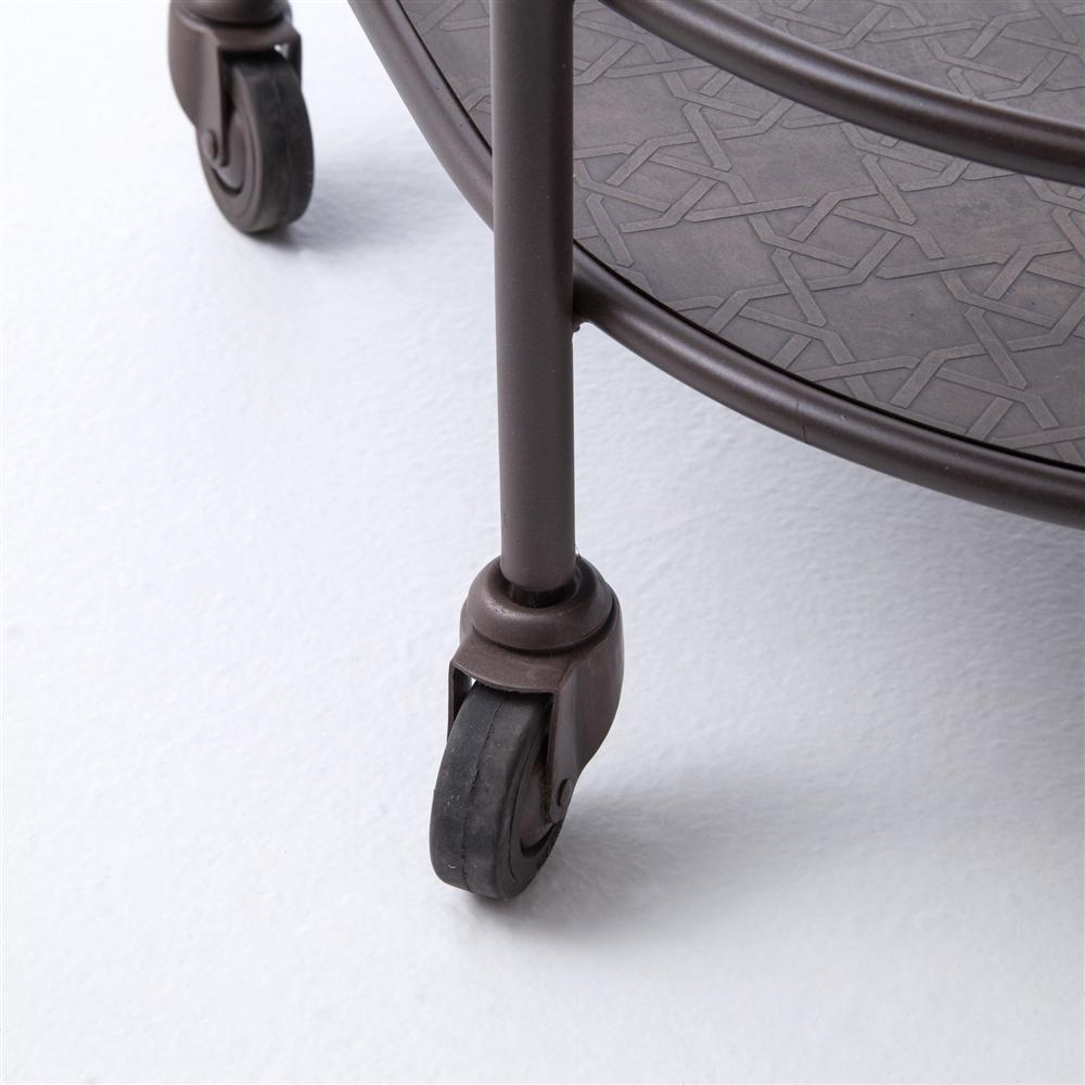 Asher Teague Oval Bar Cart, Khazana Home Austin Furniture Store