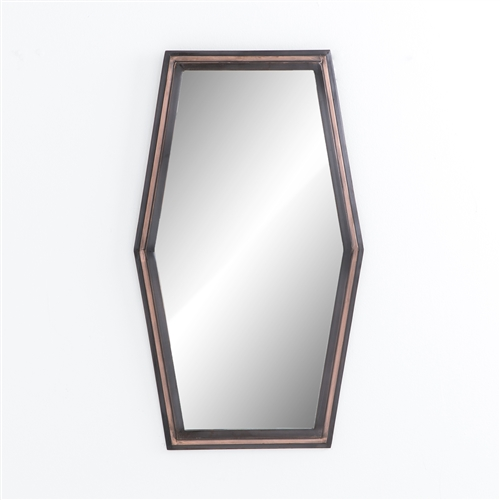 Asher Piper Hexagon Mirror in Bronze