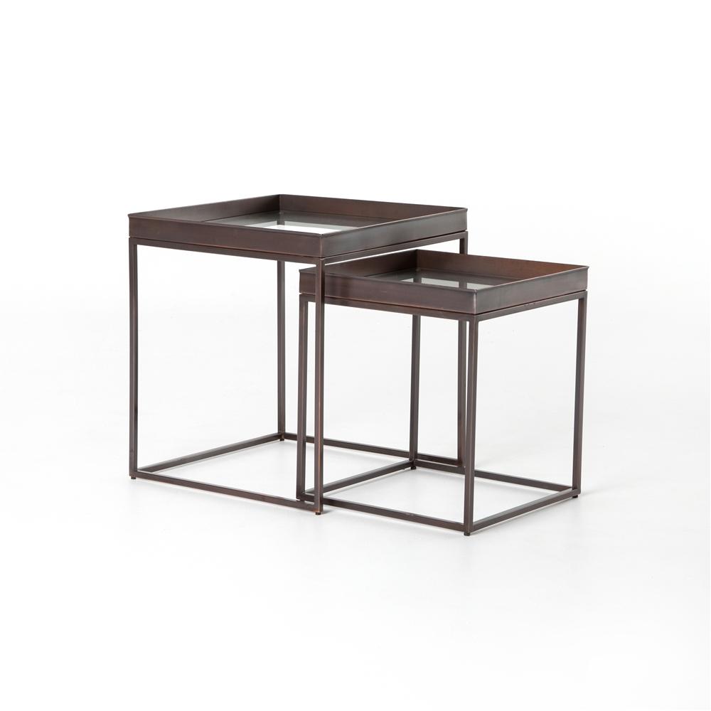 Asher Nesting Nightstands, Set of 2 , The Khazana Home Austin Furniture Store