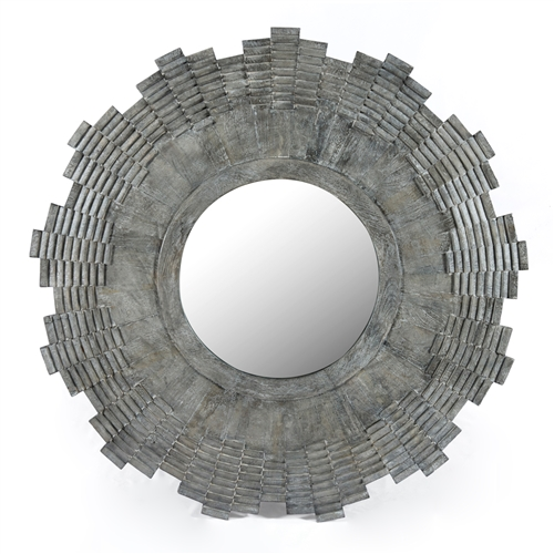 Harmon Ronan Large Mirror in Charcoal