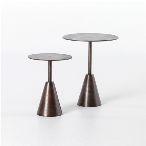 Marlow Frisco End Tables, Set of 2, Antique Rust