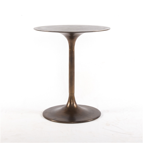 Marlow Tulip Side Table in Antique Rust