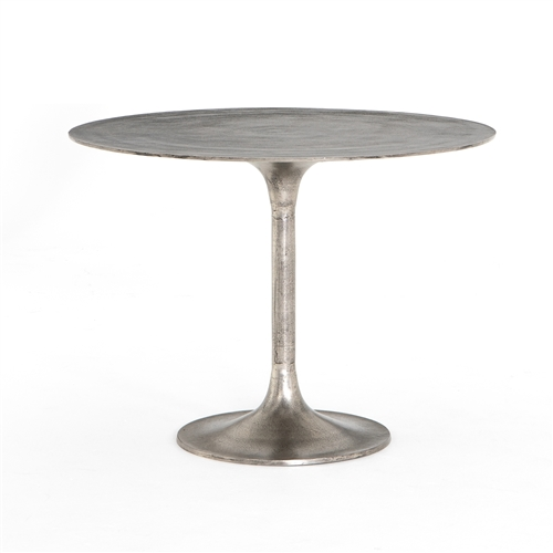 Marlow Tulip Side Table Raw Nickel, Khazana Home Austin Furniture Store