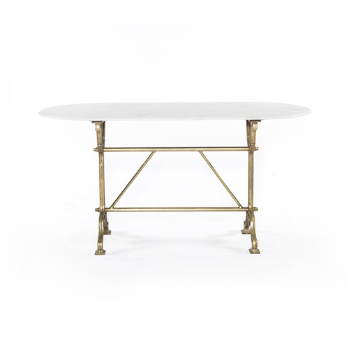 Rockwell Ava Writing Table-Bright Brass