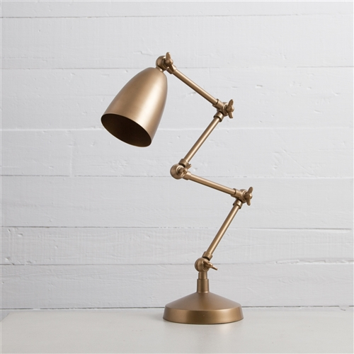 Sunset Folding Tamp Lamp in Brass