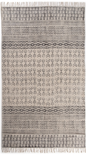 Flatweave Faded Stripe Rug 5' x 8'