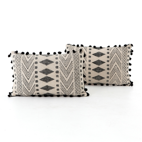 Faded Block Print Bolster, Set of 2