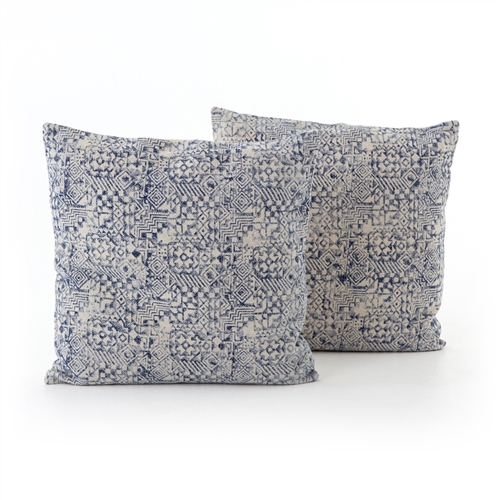 Faded Mosaic Print Large Pillow, Set of 2
