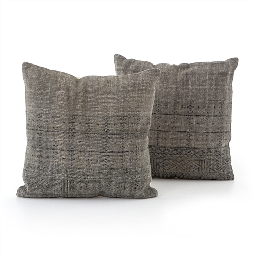 Faded Partial Print Pillow, Set of 2