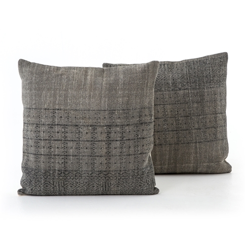 Faded Partial Print Large Pillow, Set of 2
