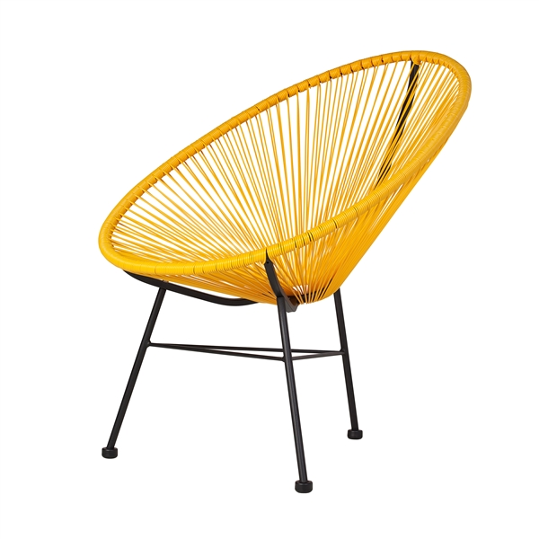 Acapulco Lounge Chair Yellow The Khazana Home Austin