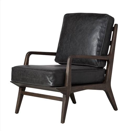 Murphy Lounge Chair in Black Leather