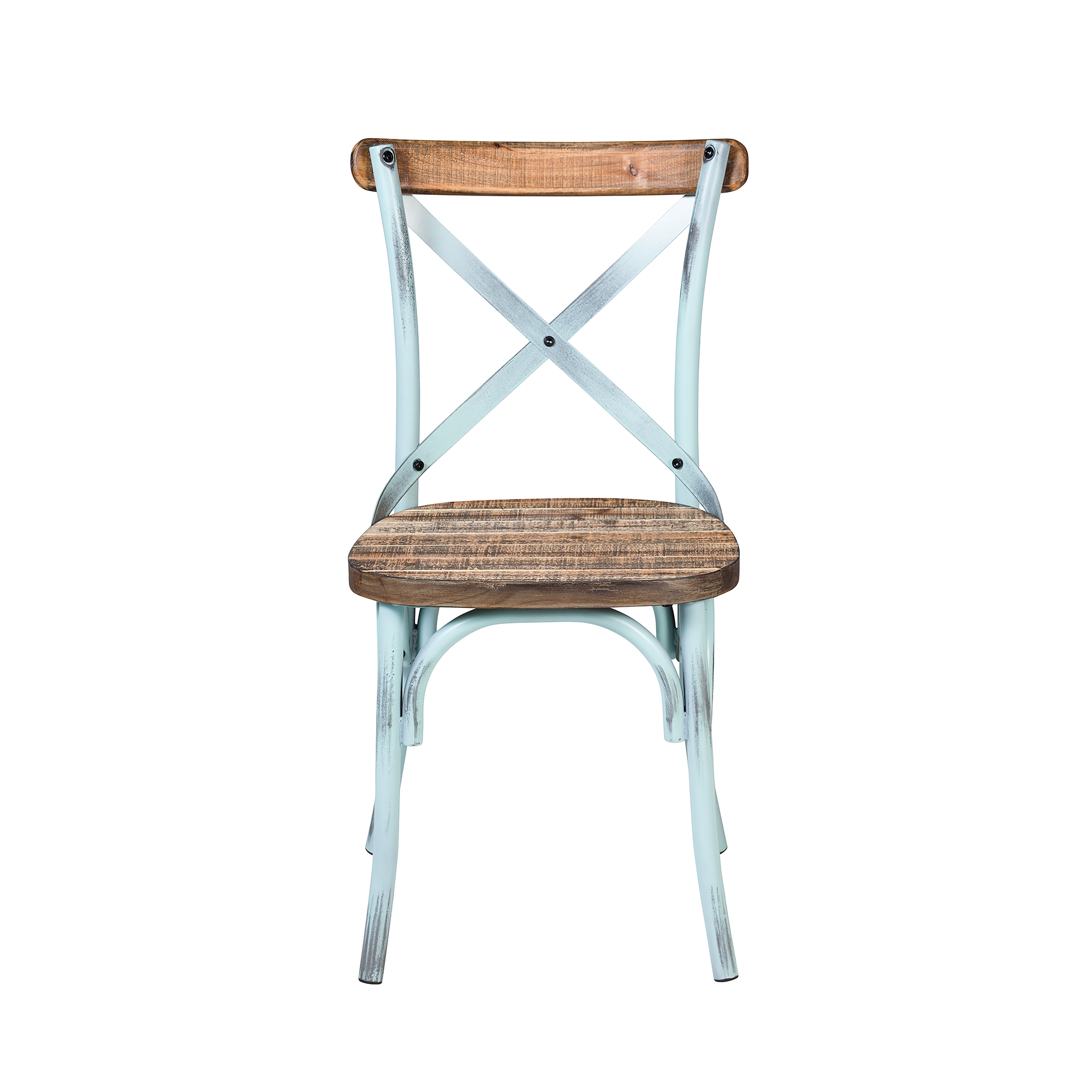 Rustic Reclaimed Crossback Dining Chair ...