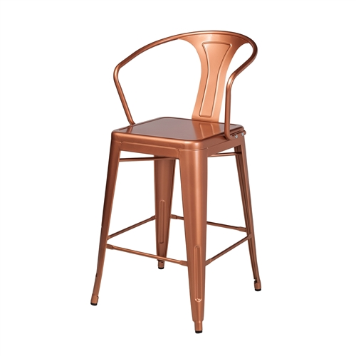 Retro Cafe Tolix Bar Stool in Copper