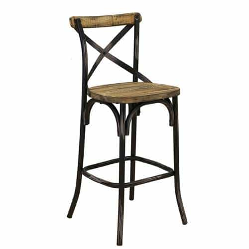 Rustic Reclaimed Pine Bar Stool