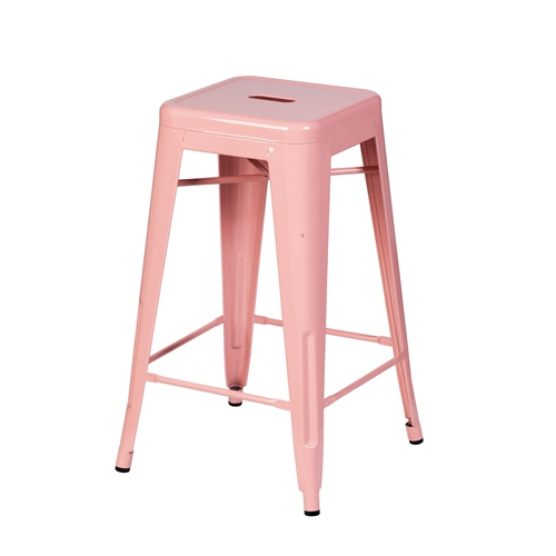Bastille Counter Stool in Pink
