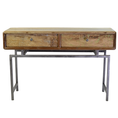Reclaimed Mango Two Drawer Console