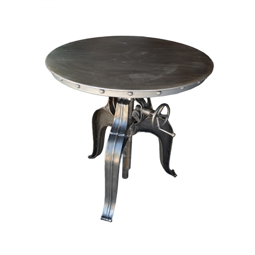 "Metal Bistro 30"" Crank Table"