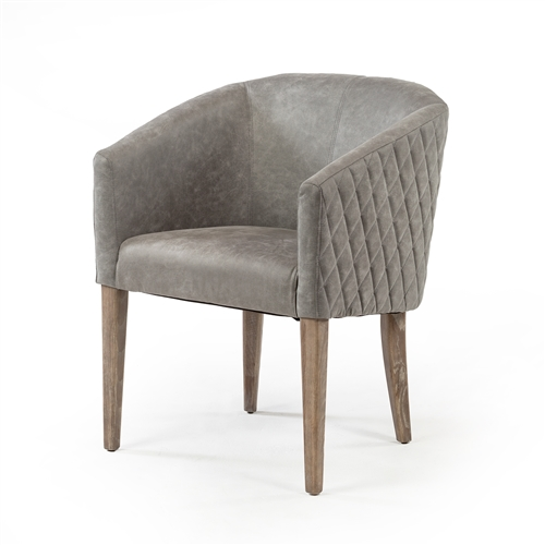 Durham Quilted Grey Arm Chair