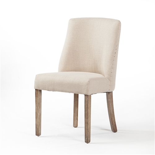 Beatrix Dining Chair in Checkered Linen