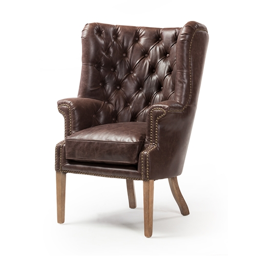 Georgian Wingback Leather Chair