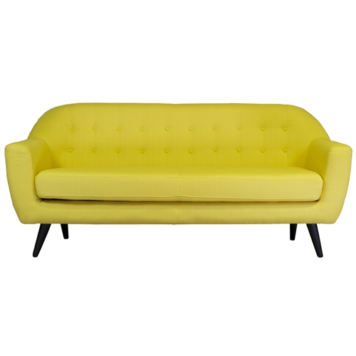 Hannah 3 Seater Sofa in Yellow