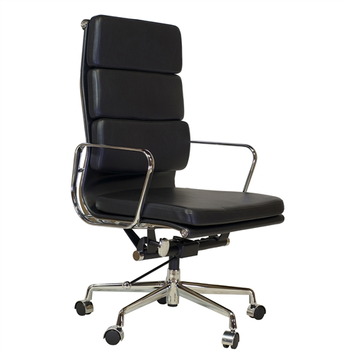 Replica Eames Group Aluminum Chair in Black