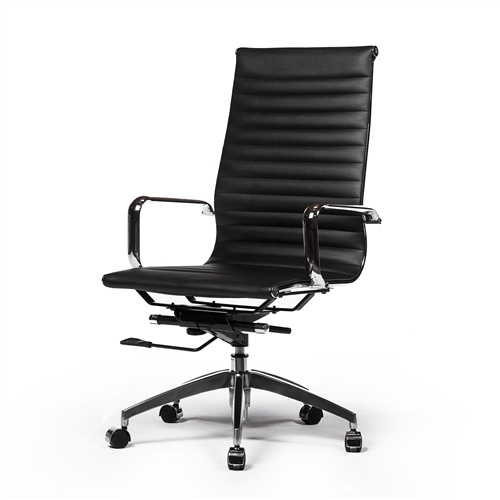 Eames Style Aluminum Group Executive Chair in Black