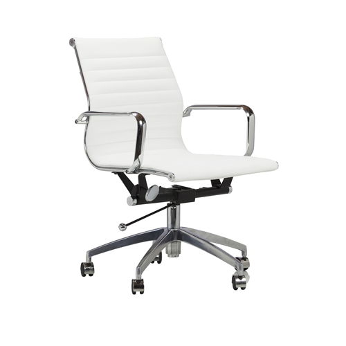 Eames Style Aluminum Group Management Chair in White