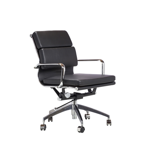 Eames Style Soft Pad Management Chair in Black