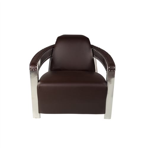 Sinclair Metal Arm Chair Dark Brown
