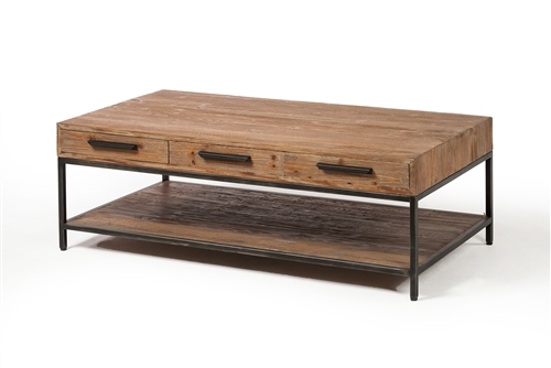 Elegant Reclaimed 6 Drawer Coffee Table