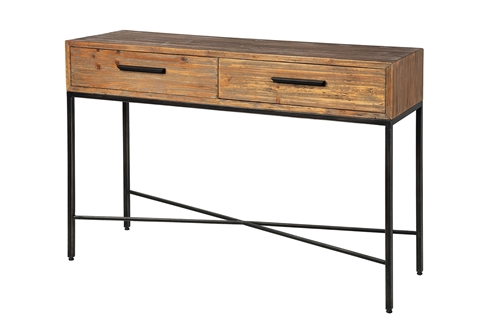 Elegant Reclaimed Wood Console