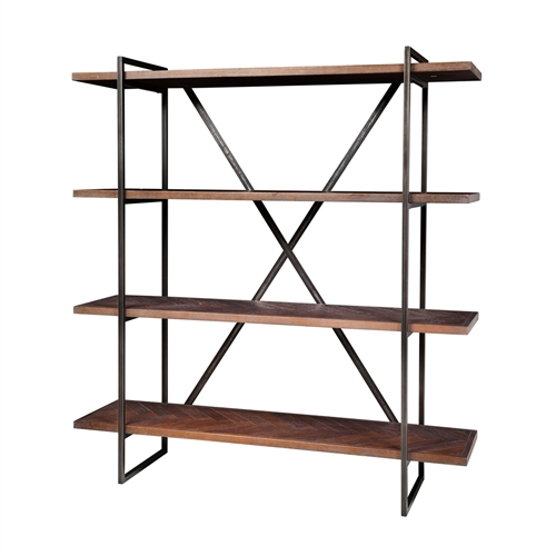 Herringbone Inlay Shelving Unit