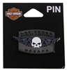 Las Vegas H-D Custom Skull and Wing Pin