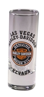 Las Vegas H-D Custom Tall Shotglass with Genuine Motoroil Emblem