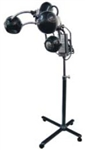 B & S CB-L9938 Heating Lamp w/3 heads - On Stand