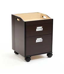 Berkeley Pedi Cart - Deep Mahogany