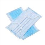 Dukal Face Masks, Pleated, Blue, 3-ply with Ear Loop