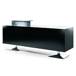 Black Torix Reception Desk by Gamma & Bross Spa, Gamma & Bross Receptionist Desk, Gamma and Bross Receptionist desk