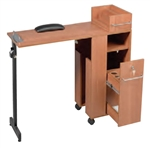 Pibbs 2009WD Folding Manicure Station - Wood