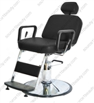 Pibbs 4391D Prince Hydraulic Barber Chair w/ 1608 Base