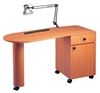 Pibbs PN1022 Laminate Double Storage Nail Table
