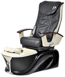 Pibbs PS60-3 Siena Turbo Jet Pedi Spa - Shiatsu Massage (Black W/ Beige Accent)
