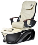 Pibbs PS60-4 Siena Turbo Jet Pedi Spa - Shiatsu Massage (Beige W/ Black Accent)