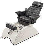 Pibbs PS84A San Remo Turbo Jet Pedi Spa w/Massage and Reclinable White Base